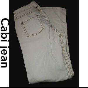 Cabi white sz 4 jean